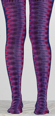Tie Dye Thigh High Socks Purple DNA Women's tye die Sexy Hippie