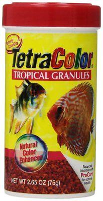 (TETRA COLOR BITS TROPICAL GRANULES 2.65 OZ FISH FOOD PELLETS.  FREE SHIP TO USA)