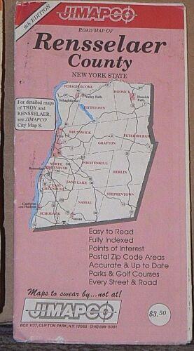 1994 JIMAPCO Street Map of Rensselaer County, New York
