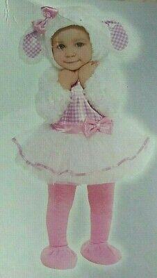 CUTE Little Lamb Costume Plush Tutu Dress Baby Infant 0-6  Fast Ship - Baby Little Lamb Costume