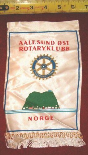 VINTAGE Rotary International Club wall banner flag     AALESUND   NORGE