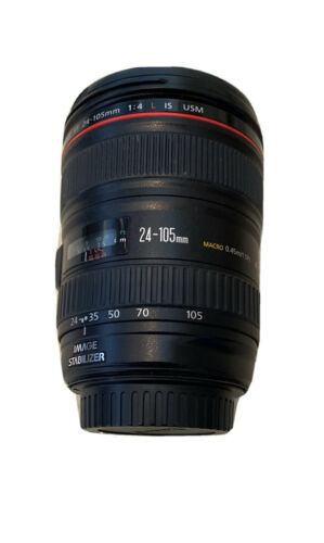Canon Zoom Lens EF 24-105mm 1 4 L IS USM Macro 0.45m/1.5ft Ultrasonic W/ EW-83H - $450.00