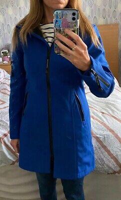 ilse jacobsen raincoat 34 size 8 royal blue colour