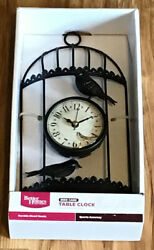 Better Homes And Garden  Bird Cage Table Clock-C5