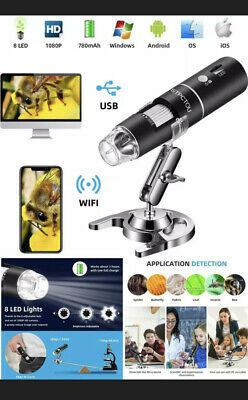 Stpctou Wireless Digital Microscope 50x-1000x 1080p Handheld Portable Mini Wifi