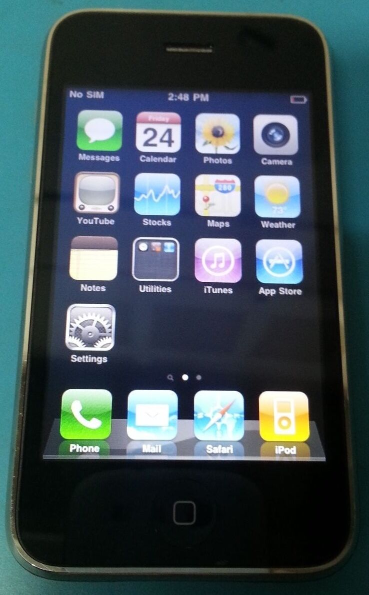 apple iphone 3g 8gb black at&t... Image 1