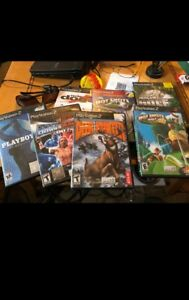 Sony PlayStation 2 games and multi tap adapter