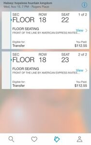 Halsey floor tickets
