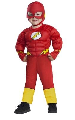Cheap 2t Halloween Costumes (NWT Rubies Justice League THE FLASH Muscle Chest Deluxe Halloween Costume)
