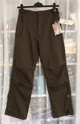 New MAHARISHI Ladies Khaki Green Cargo Joggers Snopants UK 8 - 10 / XS RRP 195