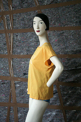 Anna Carina Damen T-Shirt gelb 80er True VINTAGE 80´s women fitness yellow shirt
