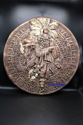 Mayan Aztec Warrior Chief with Sacrificial Maiden Statue Indoor Outdoor New