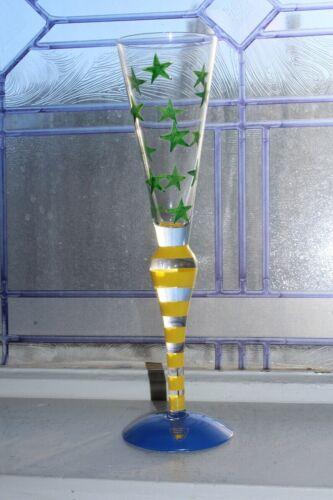Orrefors Crystal Clown Champagne Flute by Anne Nilsson & Original Box