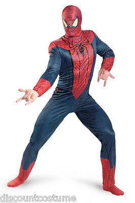 AMAZING SPIDER-MAN ADULT HALLOWEEN COSTUME MENS SZ XL 42-46 (The Amazing Spider Man Halloween-kostüm)