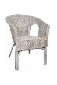 Merveilleux White Wicker Chairs
