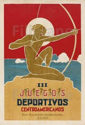 III JUEGOS DEPORTIVOS 1935 Rtls-POSTER 40x60cm* d1 AFFICHE VINTAGE