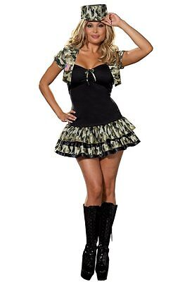 New Adult Womens Army Combat Soldier Girl Fancy - Combat Girl Kostüme