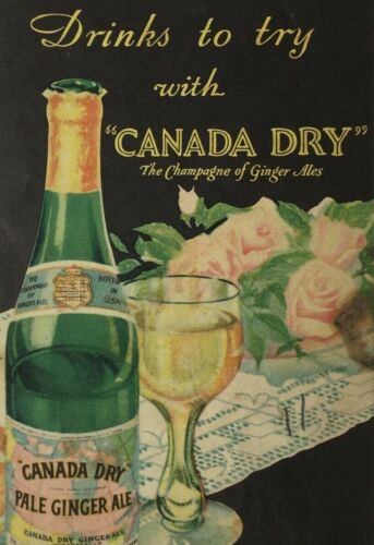 Vtg Canada Dry Recipes New York City Champagne of Ginger Ales Ad Flyer Mailer