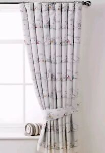 Unisex Baby Winnie The Pooh Toddler Junior Fully Lined Curtains TapeTop 66