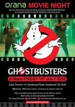 "Orana's Movie Night ""Ghostbusters"" Goodwood Unley Area Preview"