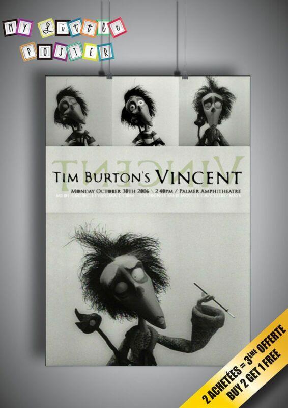 Vincent Tim Burton Poster Movie  