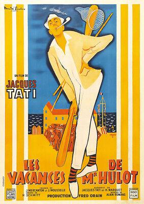 LES VACANCES DE MONSIEUR HULOT 1953 Jacques Tati – Classic Movie Cinema Poster