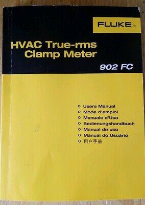 Fluke 902 Fc True Rms Ac Hvac Clamp Meter Multimeter Manual Only