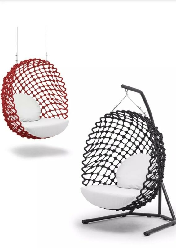 NEW RED Indoor/Outdoor DRAGNET SWING by Kenneth Cobonpue