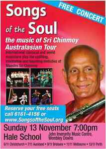 Songs of the Soul - Free Concert South Perth South Perth Area Preview