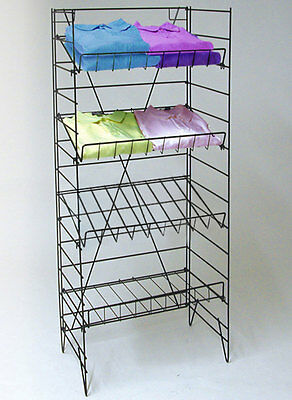 "4 Shelf Wire Rack Convenience Store Market Snack Chips Display Fixture 55""H New"
