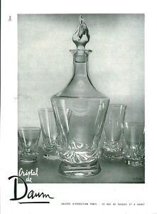 """Publicité Ancienne """" Cristal de DAUM Signé 1953 """" ( P. 33 ) P. Jahan - France - État : Occasion : Objet ayant été utilisé. Consulter la description du vendeur pour avoir plus de détails sur les éventuelles imperfections. Commentaires du vendeur : """"Bon Etat - Dimensions : 22 x 30 cm - Provenant du Magazine de l'époqu - France"""