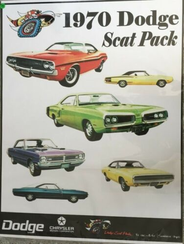"1970 Dodge Scat Pack  24""X32"" Poster."