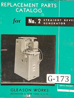 Gleason No. 2 Straight Bevel Generator Machine Taft Parts Manual