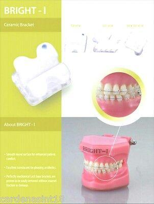Set X 10 Cases 200 Orthodontic Ceramic Brackets Roth 0.22 H 345 Usa Seller