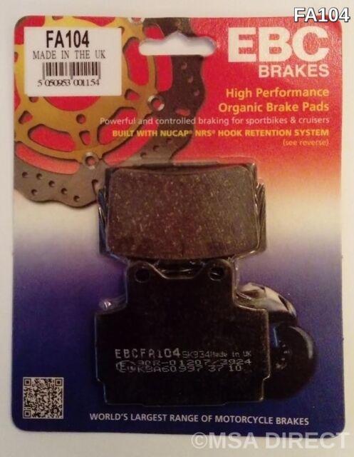 Yamaha FZS600 Fazer (1998 to 2003) EBC Kevlar REAR Brake Pads (FA104) (1 Set)