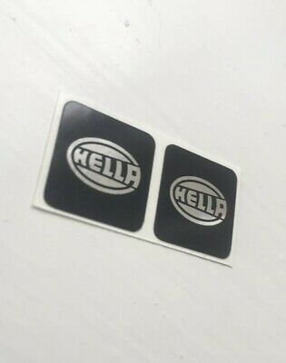 Hella spot light stickers Black-Chrome, Volkswagen MK1 Mk2 Golf GTI, G60, 8v,16v
