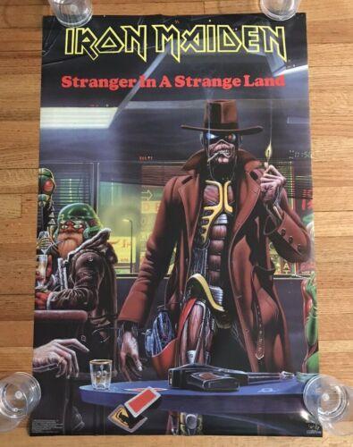 Original Iron Maiden Stranger In A Strange Land Derek Riggs Poster 1986