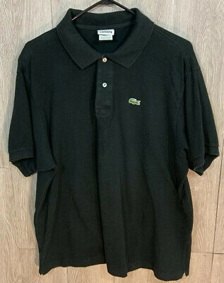 Lacoste Mens Polo Shirt Size 8 Black Classic Short Sleeve