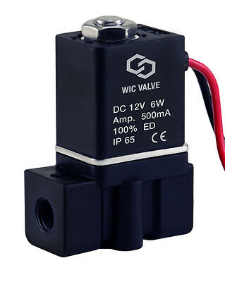 18 Plastic Direct Acting Fast Closing Electric Air Water Solenoid Valve 12v Dc
