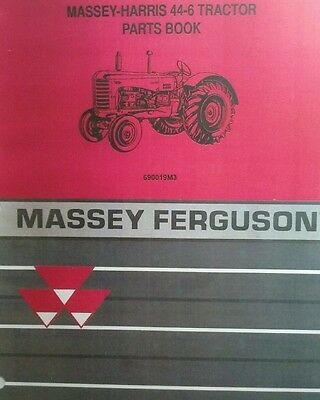 Massey-harris 44-6 Agricultural Farm Tractor Parts Manual 6 Cyl Continental F226