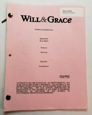 WILL & GRACE / Gail Lerner 2002 TV Script,
