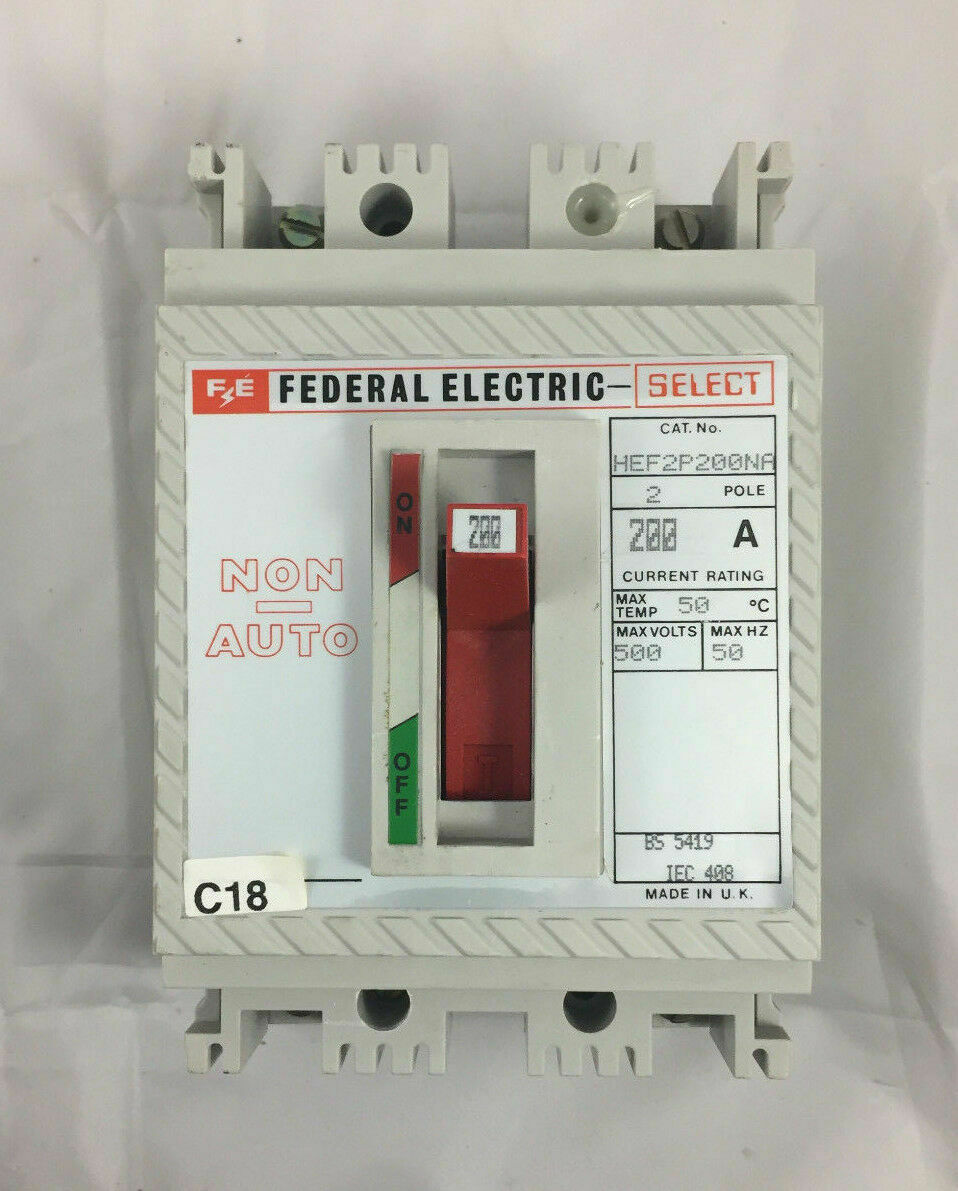 Federal Electric HEF3P20 20A Amp Triple Pole MCCB 3 Phase Circuit Breaker