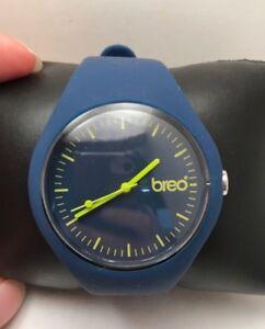 BREO MINT BLUE/YELLOW CLASSIC UNISEX QUARTZ ANALOG WATCH SPORT-H77
