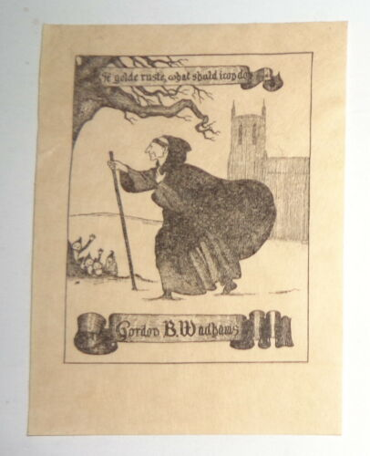 Gordon B. Wadhams Ex Libris Bookplate