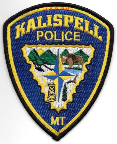 "Kalispell, Montana  (4"" x 5"" size) shoulder police patch (fire)"