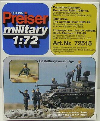 Panzerbesatzung Wehrmacht 1939-1945 , Preiser, 1/72,Plastik ,NEU,