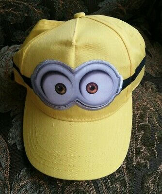 Minion Hats For Adults (Minion Kids Cap & Adults Hip Hop Baseball Cap - Kids Party Cap & Stickers)