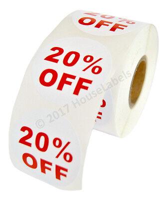 100 Rolls Of 20 Off Discount Labels 500 Labelsroll 2.5 Diameter Bpa Free