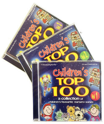 Children's Top 100  3CDs childrens, kids, nursery rhymes, songs, music  *NEW*