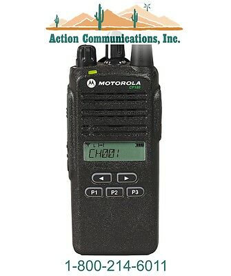 New Motorola Cp185 Vhf 136-174 Mhz 5 Watt 16 Channel Display Two Way Radio